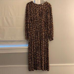 H&M leopard midi dress size 10